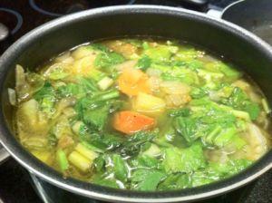 Суп из листьев сельдерея