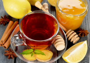Имбирь, мед, лимон и корица