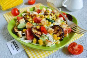 Салат из баклажанов и кукурузы