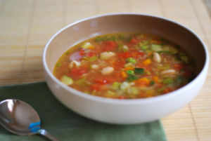 Суп из сельдерея с помидорами