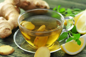 Зеленый чай с имбирем и лимоном