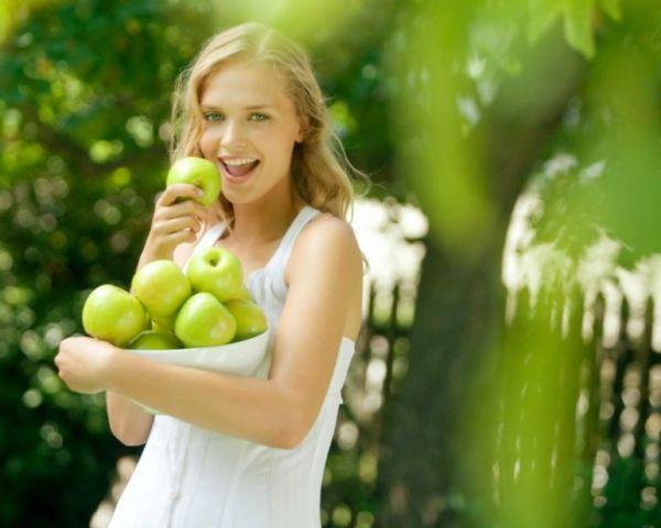 Разгрузка на яблоках