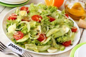 Салат из овощей и яиц