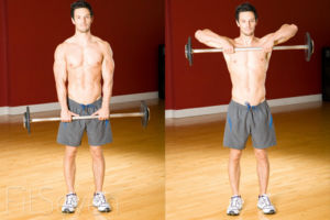Упражнения на плечи со штангой