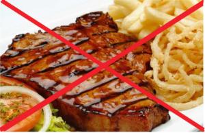 исключение жареного мяса их диеты