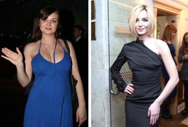 Фото Гагариной до и после похудения