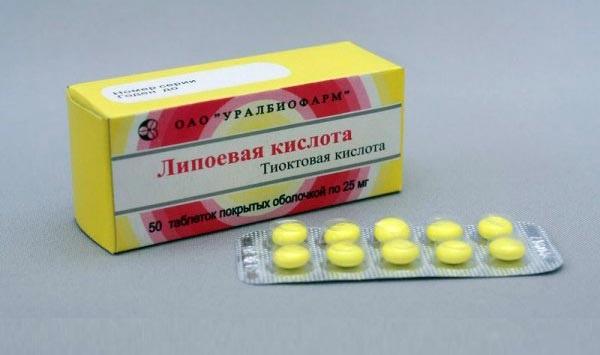Липоева кислота в таблетках