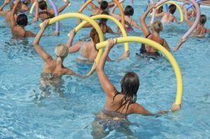 Наклоны в бассейне