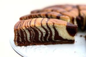 Пирог зебра в духовке