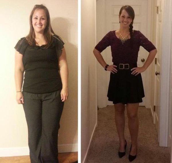 Фото до и после курса применения Турбослим