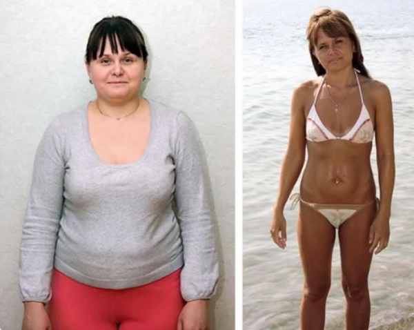 Фото до и посл диеты магги