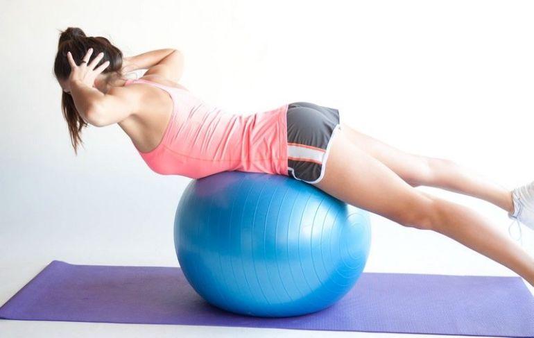 Упражнение для похудения спины