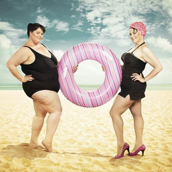 Худая и толстая женщина