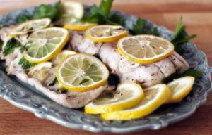 Филе минтая с лимоном