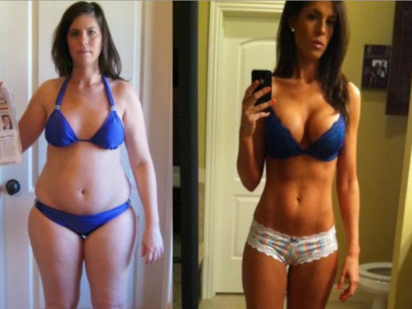 Фото до и после ленивой диеты