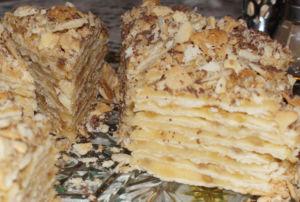 Торт Наполеон из лаваша