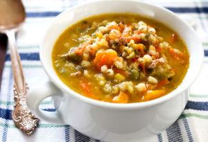 Суп с перловкой и тыквой