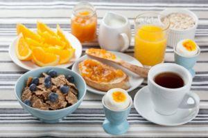 Белково-углеводный завтрак
