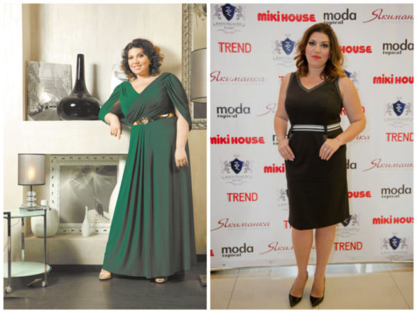 Фото Екатерины Скулкиной до и после похудения