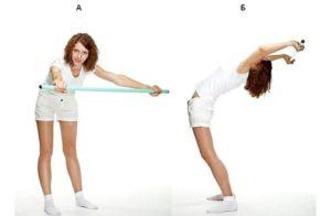 Упражнение с палкой