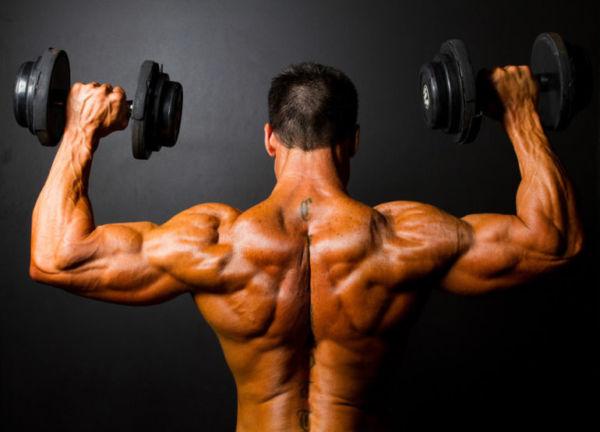 Качаем плечи в тренажерном зале для мужчин